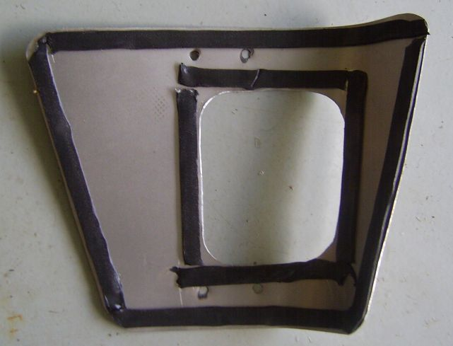 Underside of Fabricated Adapter Plate with Sealing Compound