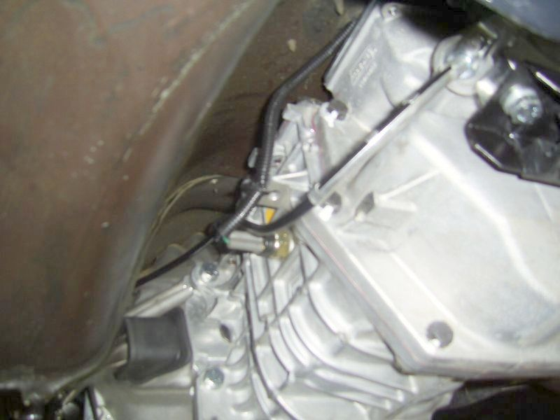 Side View of TKO 500 Installed in a C3 Corvette