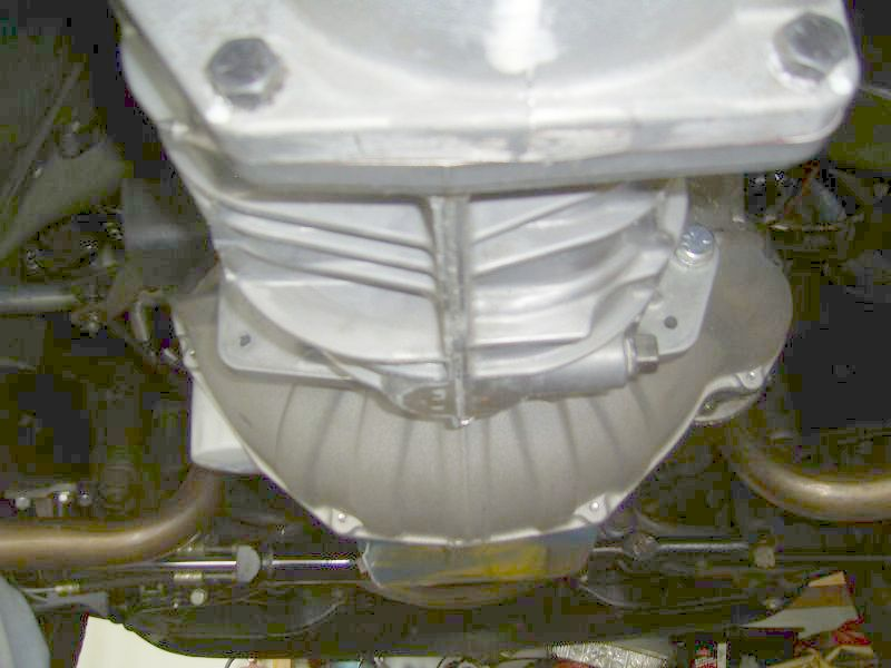 Bottom View of TKO 500 Installed in C3 Corvette
