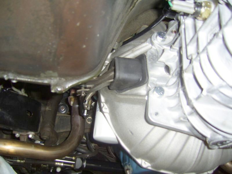 Left Side View of TKO 500 Installed in a C3 Corvette
