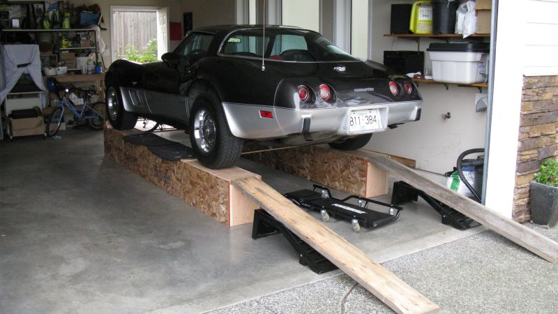 Corvette C3 Ramps - Build Home Made Car Ramps